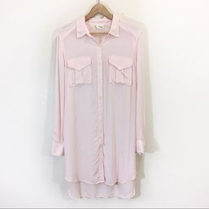 Wilfred Free Veronika Pink ButtonDown Dress Medium